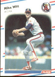 1988 Fleer Baseball Cards      507     Mike Witt