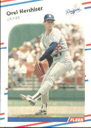 1988 Fleer Baseball Cards      518     Orel Hershiser