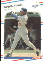 1988 Fleer Baseball Cards      527     Franklin Stubbs