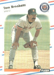 1988 Fleer Baseball Cards      053      Tom Brookens