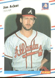 1988 Fleer Baseball Cards      531     Jim Acker