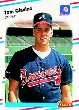 1988 Fleer Baseball Cards      539     Tom Glavine RC