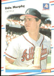 1988 Fleer Baseball Cards      544     Dale Murphy