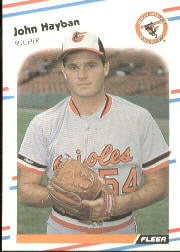 1988 Fleer Baseball Cards      562     John Habyan UER#{(Misspelled Hayban on#{both sides