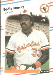 1988 Fleer Baseball Cards      567     Eddie Murray
