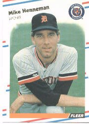 1988 Fleer Baseball Cards      057      Mike Henneman RC*