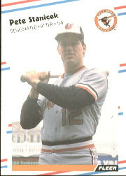 1988 Fleer Baseball Cards      573     Pete Stanicek