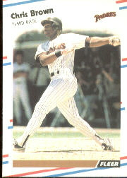 1988 Fleer Baseball Cards      578     Chris Brown