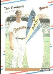 1988 Fleer Baseball Cards      582     Tim Flannery#{(With surfboard)