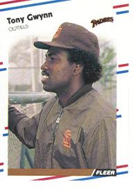 1988 Fleer Baseball Cards      585     Tony Gwynn
