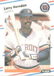 1988 Fleer Baseball Cards      059      Larry Herndon