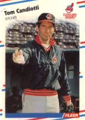 1988 Fleer Baseball Cards      604     Tom Candiotti