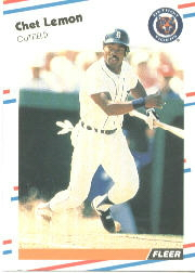 1988 Fleer Baseball Cards      061      Chet Lemon