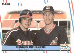 1988 Fleer Baseball Cards      622     Slugging Sophomores#{Wally Joyner#{Cory Snyder