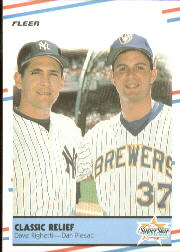 1988 Fleer Baseball Cards      625     Classic Relief#{Dave Righetti#{Dan Plesac