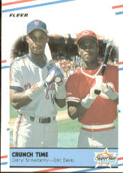 1988 Fleer Baseball Cards      637     Darryl Strawberry/Eric Davis