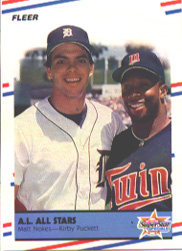 1988 Fleer Baseball Cards      638     Matt Nokes/Kirby Puckett