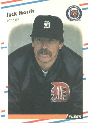 1988 Fleer Baseball Cards      064      Jack Morris