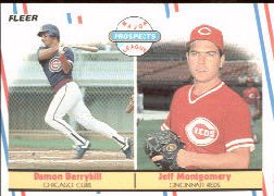 1988 Fleer Baseball Cards       642     Damon Berryhill/Jeff Montgomery RC