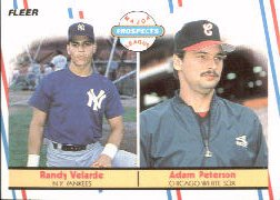 1988 Fleer Baseball Cards       646     Adam Peterson/Randy Velarde RC