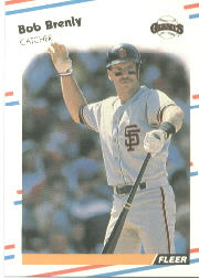 1988 Fleer Baseball Cards      077      Bob Brenly