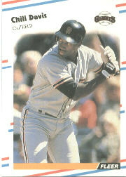 1988 Fleer Baseball Cards      079      Chili Davis