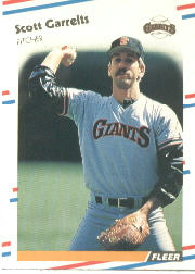 1988 Fleer Baseball Cards      082      Scott Garrelts