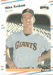 1988 Fleer Baseball Cards      085      Mike Krukow
