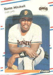 1988 Fleer Baseball Cards      092      Kevin Mitchell