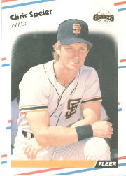 1988 Fleer Baseball Cards      096      Chris Speier