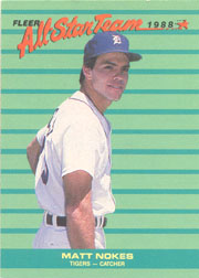 1988 Fleer All-Stars Baseball Cards    001      Matt Nokes