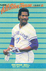 1988 Fleer All-Stars Baseball Cards    005      George Bell
