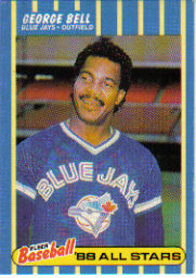 1988 Fleer Baseball All-Stars Baseball Cards   001      George Bell
