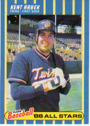 1988 Fleer Baseball All-Stars Baseball Cards   017      Kent Hrbek