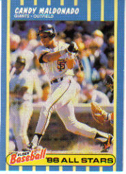 1988 Fleer Baseball All-Stars Baseball Cards   022      Candy Maldonado