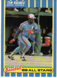 1988 Fleer Baseball All-Stars Baseball Cards   031      Tim Raines