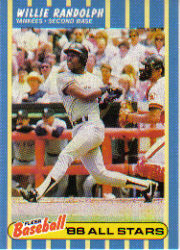 1988 Fleer Baseball All-Stars Baseball Cards   032      Willie Randolph