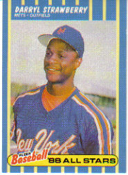 1988 Fleer Baseball All-Stars Baseball Cards   040      Darryl Strawberry
