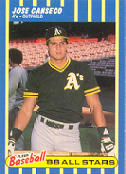 1988 Fleer Baseball All-Stars Baseball Cards   005      Jose Canseco