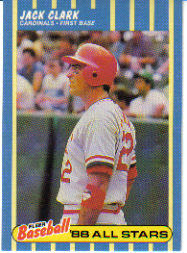 1988 Fleer Baseball All-Stars Baseball Cards   006      Jack Clark