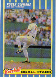 1988 Fleer Baseball All-Stars Baseball Cards   008      Roger Clemens