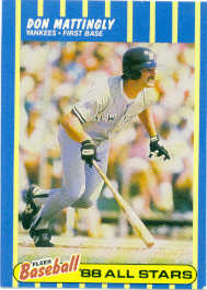 1988 Fleer Baseball MVPs Baseball Cards       022      Don Mattingly