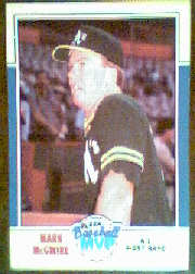 1988 Fleer Baseball MVPs Baseball Cards       023      Mark McGwire