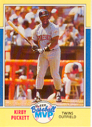 1988 Fleer Baseball MVPs Baseball Cards       026      Kirby Puckett