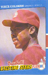 1988 Fleer Exciting Stars Baseball Cards       011      Vince Coleman