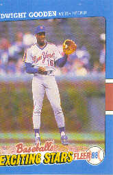 1988 Fleer Exciting Stars Baseball Cards       015      Dwight Gooden