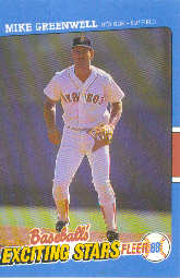 1988 Fleer Exciting Stars Baseball Cards       016      Mike Greenwell