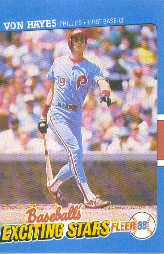 1988 Fleer Exciting Stars Baseball Cards       018      Von Hayes