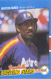 1988 Fleer Exciting Stars Baseball Cards       002      Kevin Bass