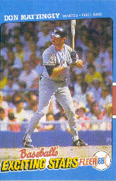 1988 Fleer Exciting Stars Baseball Cards       025      Don Mattingly